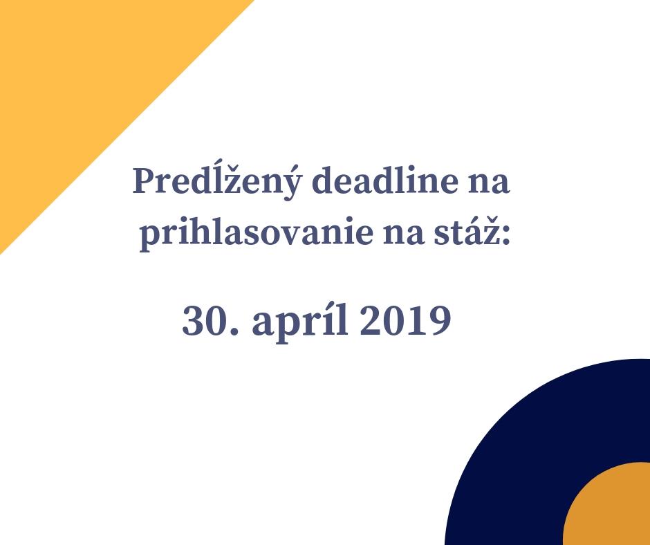 283ff6f1ae Deadline na prihlásenie posunutý na 30. apríl 2019 – WorkSpace Europe